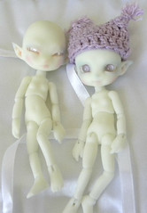 Isilme & Fuuga Frost Firefly Faeries (ok2la) Tags: bjd elf faery faerie fairy doll sprite pixie gnome charles creature cabinet ccc isilme fuuga frost firefly tiny ws white skin