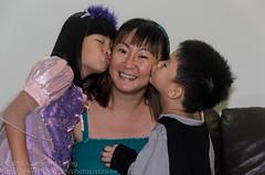 Birthday kiss for Mummy (Stinkee Beek) Tags: erin ethan yewyen