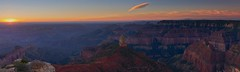 Sunrise Point Imperial Panorama - Grand Canyon National Park (Sinar84) Tags: park morning pink blue red arizona sky panorama orange cliff usa white black mountains yellow clouds point dawn nationalpark sandstone stones grandcanyon south north