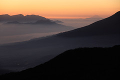 View from Papandayan (Ardy Hadinata Kurniawan) Tags: morning mountain canon indonesia landscape layer westjava goldenhour garut jawabarat