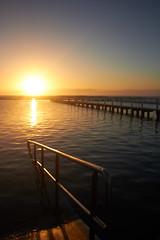 Narrabeen Sunrise (Lin.246) Tags: ocean lake beach clouds sunrise narrabeen oceanpool
