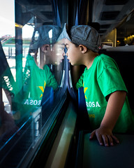 Boys & Trains (melfoody) Tags: travel boy reflection train wonder explore journey excitement explored x100s