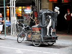 Skeleton Ghost Pedicab 7488 (Brechtbug) Tags: street new york city nyc robert halloween hat bike bicycle monster square skulls skeleton skull restaurant costume king carriage with mr near top dr cab ghost broadway lewis bikes location bicycles kong hyde stevenson doctor figure horror theme mister times skeletons avenue creature villain pedicab 8th prop pedal jekyll 44th waxwork 2014 cryogenics cryonics 9102014