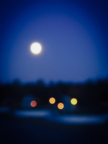 The full bright moon on mid-autumn night in Kouvola