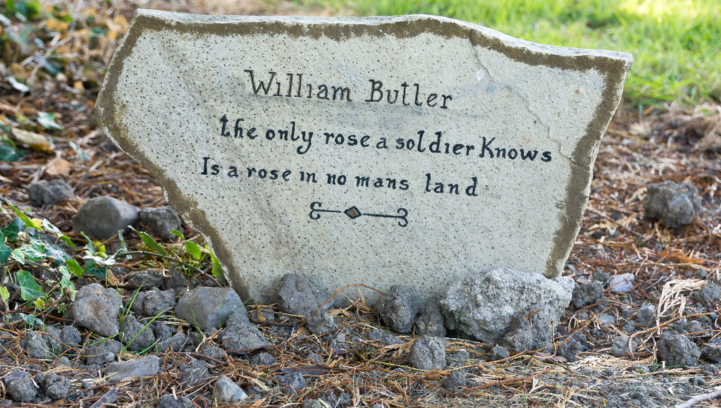 THE ONLY ROSE A SOLDIER KNOWS IS A ROSE IN NO MANS LAND - GRANGEGORMAN MILITARY CEMETERY Ref-2110