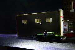 HUNTER,  2014 (Idlevalley) Tags: helsinki finland night shopping wait man lonely green evening ho model