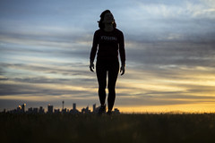 Yogini (Leighton Wallis) Tags: park sunset woman girl silhouette skyline dusk sony sydney australia 55mm nsw newsouthwales alpha f18 doverheights mirrorless dudleypagereserve a7r emount ilce7r