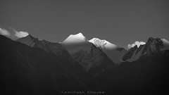Fading Light (_Amritash_) Tags: nubra ladakh himalayas sunset sunsetlights sunsetinhimalayas snowcappedmountains snowcappedpeaks travel travelindia travelinindianhimalayas lastlight monochrome monochromemadness blackandwhite india landscapes