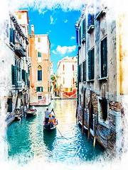 Venecia, Venice Gondolas 001 (www.ignaciolinares.com) Tags: venecia venice venezia gondola canales sanmarcos feniche campanile ilduomo eldoge vaporetto veneto italia