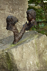 Monkey World - Jim Cronin and Chimpanzee Charlie Memorial Statue (LostnSpace2011- Back Soon) Tags: jimcronin charlie chimp monkeyworld memorial legacy