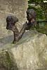 Monkey World - Jim Cronin and Chimpanzee Charlie Memorial Statue (LostnSpace2011- Back) Tags: jimcronin charlie chimp monkeyworld memorial legacy