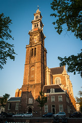 Sunset Church (primo2424) Tags: amsterdam cityscape landscape europe holland netherlands nature architecture canals oldworld bikes