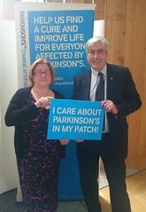 At Parkinsons UK stall at Holyrood