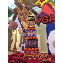 Chocolate Bar Tower (sweetsuccess888) Tags: instagramapp square squareformat iphoneography uploaded:by=instagram sweetsuccess chocolates chocolatebartower kitkat crunch hersheys twix snickers basketball basketballparty sports philippines