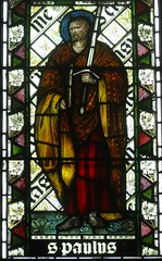 [45599] St Editha, Tamworth : St Paul (Budby) Tags: tamworth staffordshire church window stainedglass preraphaelite