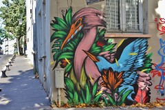 Bailon_5099 passage Boiton Paris 13 (meuh1246) Tags: streetart paris bailon passageboiton paris13 butteauxcailles animaux oiseau cygne