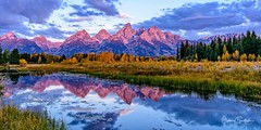 Purple Mountain Majesty (Teton Version) (craig goettsch) Tags: grandtetonnp schwabacherlanding sunrise clouds purple fallcolors autumn snakeriver reflection landscape nature nikon d810 bestofnature