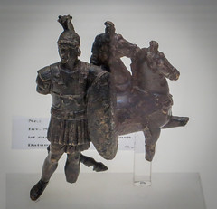 IMG_6280 (jaglazier) Tags: 1stcentury 1stcenturyad 2016 adults animals armor charioteers cologne copyright2016jamesaglazier cuirass germany horses imperial koln kln mammals men metalsculpture museums roman romangermanicmuseum rmischgermanischesmuseum september archaeology art bronze bronzesculpture cast castbronze crafts figurines helmets metalworking pair sculpture shields soldiers