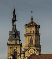 STUTTGART. Hermes und Stiftskirche (onkobrain) Tags: stuttgart hermes stiftskirche