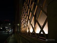 A window and light of Takeda Doshomachi Building () (christinayan01) Tags: architecture postmodern building osaka japan nigh night office