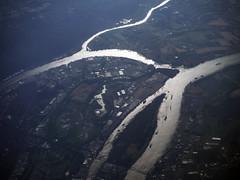 Friendly Reach (Sotosoroto) Tags: aerial oregon portland river willametteriver columbiariver washington haydenisland vancouver