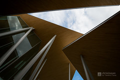 Upward view of Okayama University, Junko Fukutake Hall (Junko Fukutake Hall) (christinayan01) Tags: architecture building perspective hall japan sanaa sejima kazuyo nishizawa ryue roof