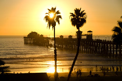 Sunset over the pier, Oceanside California (Gail K E) Tags: oceanside california usa oceansidepier golden pacific pacificocean ocean scenic sandeigo socal cali architecture fiery coastline