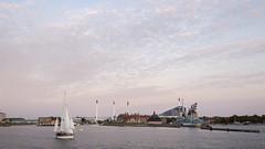Near Nordhavnen (HansPermana) Tags: copenhagen denmark scandinavia city cityscape hafen boat afternoon sunset water kanal autumn