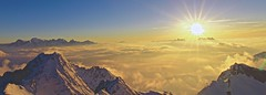 Above the magic. (clicheforu) Tags: clicheforu abovethemagic hautenendaz monfort verbier valais wallis suisse switzerland montblanc dentsdumidi landscape nature view sunset light clouds alpes sun altitude magic beautiful amazing winter snow mountains