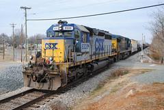 The Unexpected (ajketh) Tags: csx csxt yn1 emd sd402 f768 monroe nc north carolina charlotte subdivision freight train local railroad