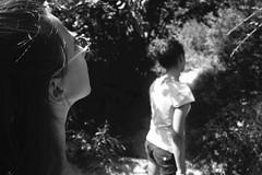 Looking further (Phoenix_1889) Tags: ragazza bosco alberi trees summer profilo girl contrasti shadows lights
