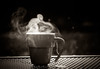 there's magic in the air - 342/366 (auntneecey) Tags: steam tea monochrome blackandwhite theresmagicintheair 366the2016edition 3662016 day342366 7dec16 odc hot