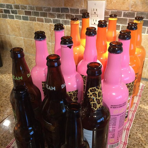 Lots of #squeakyclean #bottles for the #hardcider that I made. #homebrewer #yeastfeast #cider #okc #ok #redearthbrewers