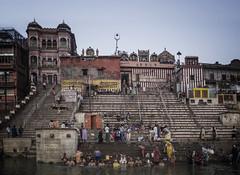 IMGP4164 (OvalOne) Tags: india varanasi ganga ganges river holy holyriver locals washing early morning water ghat kedar kedarghat