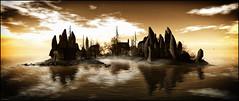 Isole negli Occhi (Islands in Your Eyes) (Akim Alonzo) Tags: secondlife landscape island foggyswamp halloween isolenegliocchi tizianoferro