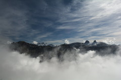 Above the Clouds (oliko2) Tags: mountains clouds switzerland rochersdenaye sky landscape panorama autumn atmosphere d7100