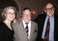Stephanie and Rich Barbour with Wally (center)