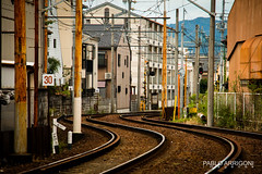 Railways curves (Pablo Arrigoni) Tags: japan japn japanese japons trip travel train tren track vas viaje city ciudad color colors colores canon eos eos70d kyoto asia outside outdoor 18135 railway camino viajar