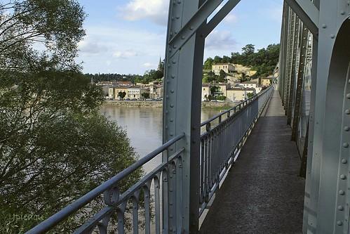 Le Pont de Langoiran, sur la Garonne (Gironde - Fr)