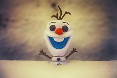 So, You've Built a Snowman (flashfix) Tags: november222016 2016 2016inphotos ottawa ontario canada winter canon canoneos5dmarkii 5dmarkii 35mm80mm olaf frozen snow textures character toy figurine bokeh