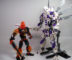 Ahi, Predecessor Form (MySnailEatsPizza) Tags: lego bionicle robot toa cool orange wings wing black gold grey gray warrior sword fly deity predecessor action armor constraction moc
