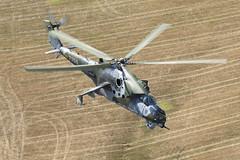 7356_MilMi-24Hind_CzechAirForce_A2A (Tony Osborne - Rotorfocus) Tags: mil russian helicopters mi24 mi24v hind czech air force italian blade 2015 airtoair czechrepublic italy