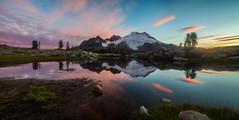 Magic at the Butte (Don Jensen) Tags: mount baker park butte reflection cloud clouds sun rise sunrise