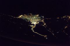 Nile (Thomas Pesquet) Tags: night egypt nile