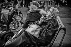 lazy smoke (Daz Smith) Tags: dazsmith canon6d bw blackwhite blackandwhite bath city streetphotography people candid canon portrait citylife thecity urban streets uk monochrome blancoynegro mono woman older cigarette smoke smokinglazy
