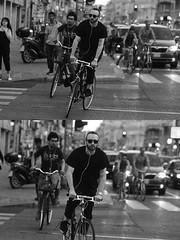 [La Mia Città][Pedala] (Urca) Tags: milano italia 2016 bicicletta pedalare ciclista ritrattostradale portrait dittico bike bicycle nikondigitale biancoenero blackandwhite bn bw 907140