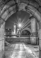 Framed (iankent1963) Tags: longexposure bigben winter noperson architecture capital flickr hdr bridge westminster riversidethames d5100 nikon cityscapes blackwhite monochrome london arch