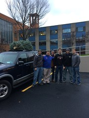 Seminarians arrive at the Seminary with a fresh cut tree - December 2016
