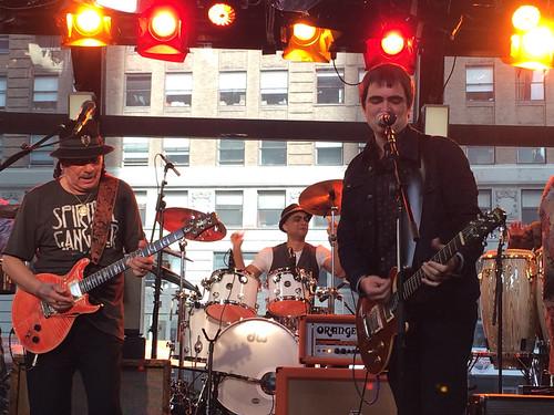 Samuel Rosa e Carlos Santana em NYC