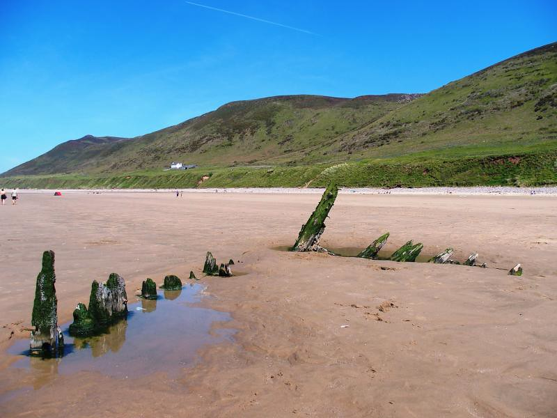 The wreck of the Helvetia at Rhossili 17th May 2014 (12)